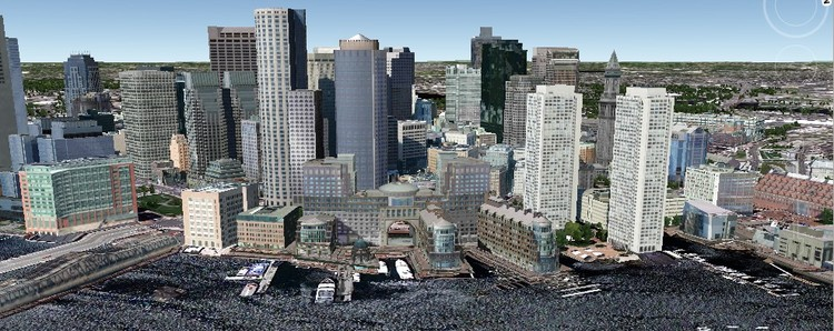 Boston in Google Earth