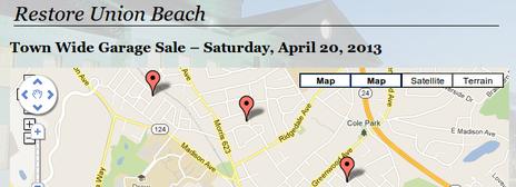 Madison Garage Sale Map